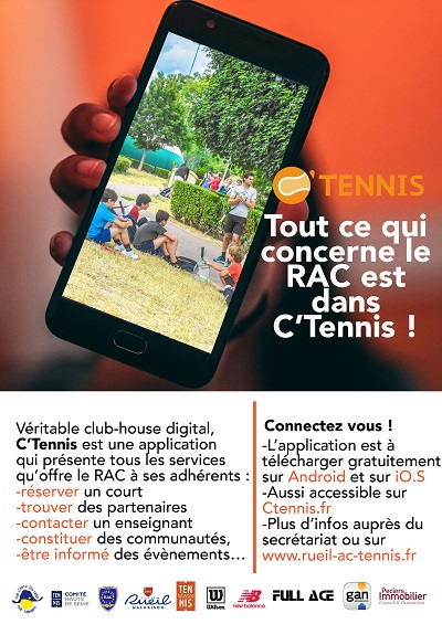 C'Tennis, une nouvelle application au club !